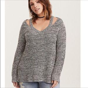 Torrid • marled cold shoulder sweater